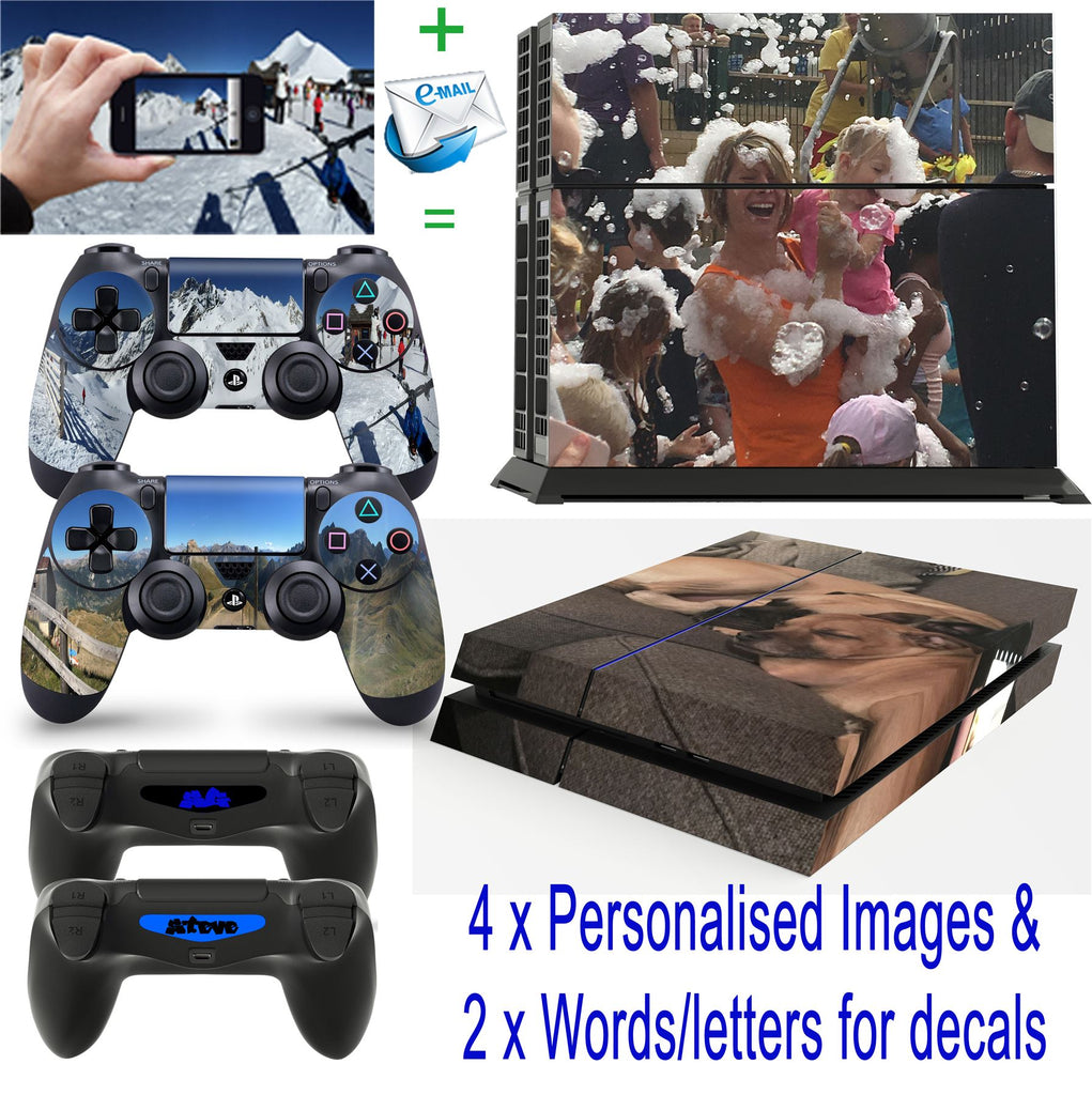 giZmoZ n gadgetZ PS4 Console Personalised CUSTOM Skin Decal Vinal Sticker + 2 Controller Skins Set