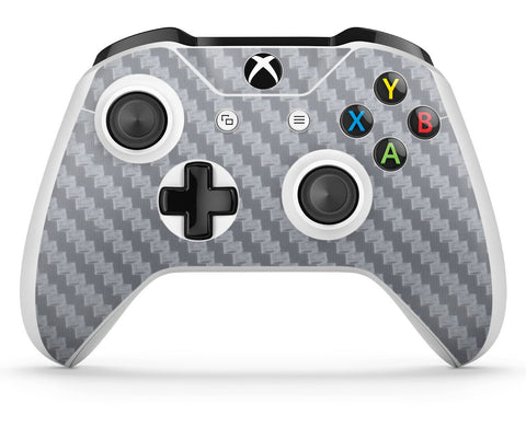 GNG 1 x Carbon Silver Compatible with Xbox One S Controller Skins Full Wrap Vinyl Sticker