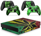 giZmoZ n gadgetZ WEED Skins for XBOX ONE X XBX Console Decal Vinal Sticker + 2 Controller Set