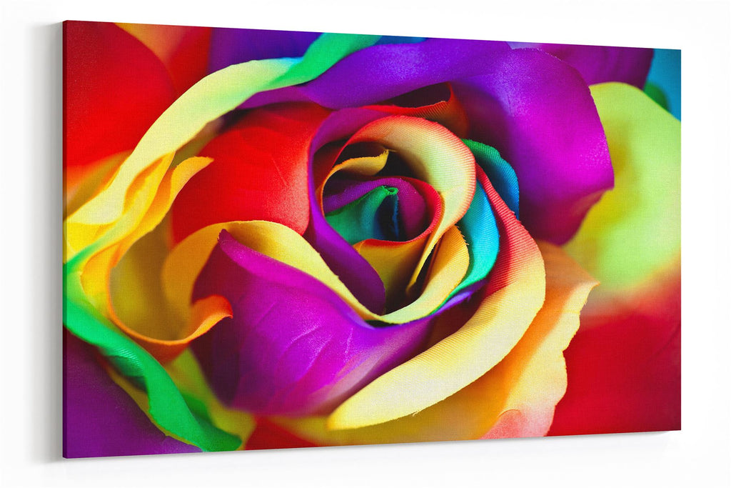 A1 60x75cm Canvas Wall Art of Abstract Coloured Flower for your Living Room Canvas Prints - Pictures