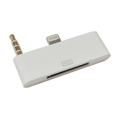 White 30 pin - 8 pin iPhone 4 To iPhone 6 Audio Video Adapter also for iPad 4, iPad Mini, iPod Touch 5, iPad Air, iPod Nano 7 giZmoZ n gadgetZ