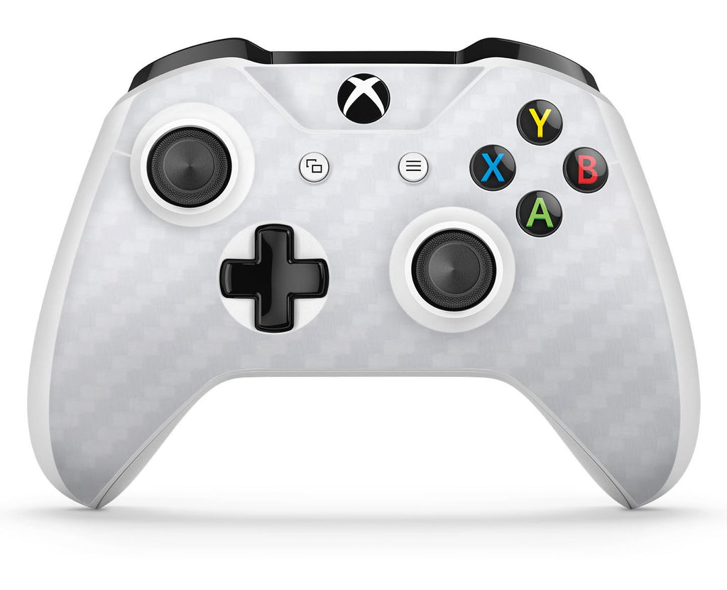 GNG 1 x Carbon White Compatible with Xbox One S Controller Skins Full Wrap Vinyl Sticker