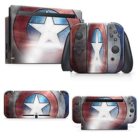 giZmoZ n gadgetZ Superhero Skin Decal vinyl Sticker Compatible with Nintendo Switch Console + 1 Controller Skins Set