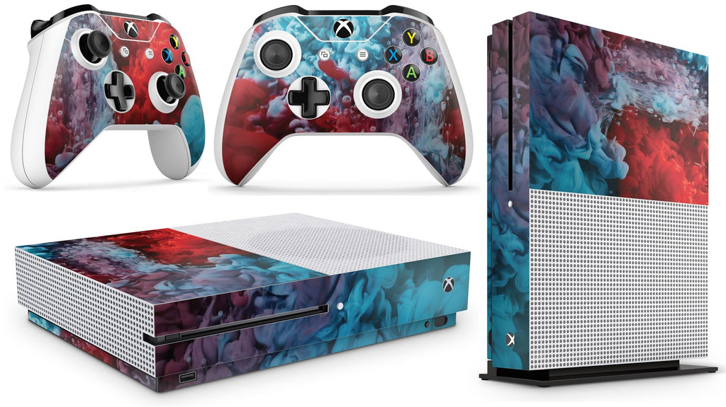 giZmoZ n gadgetZ Xbox One S COLOUR EXPLOSION Console Skin Decal Sticker + 2 Controller Skins