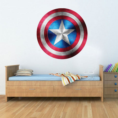 Captain America Shield Superhero Kids Boy Girls Marvel Avengers Bedroom Decal Wall Art Sticker Poster
