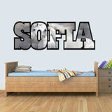 S Customisable Horse Childrens Name Wall Art Decal Vinyl Stickers for Boys/Girls Bedroom