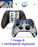GNG 2 x Personalised CUSTOM Controller Skins Full Wrap Vinyl Sticker compatible with Xbox One / S /  X