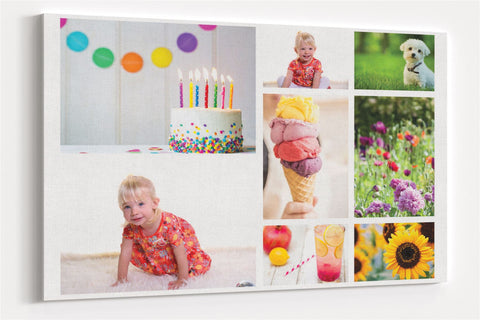 A2 45x60 Personalised Collage Custom Canvas Wall Photo Print Art for Living Room Pictures