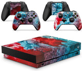 GNG COLOUR EXPLOSION Skins for XBOX ONE X  XBX Console Decal Vinal Sticker + 2 Controller Set