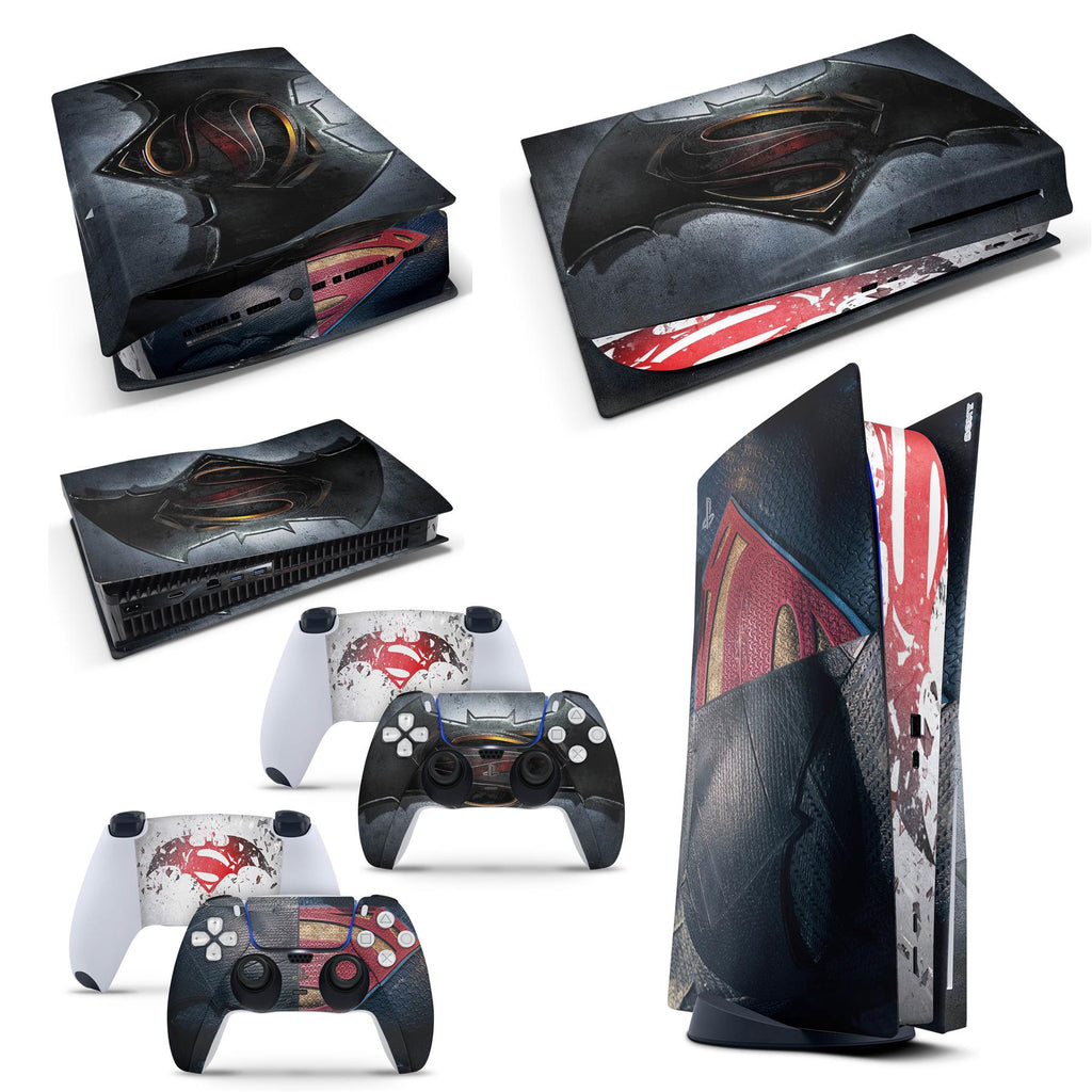 PS5 Disk Console SM vs BM  Skins for PS5 Disk Playstation 5 Console Decal Vinal Sticker + 2 Controller