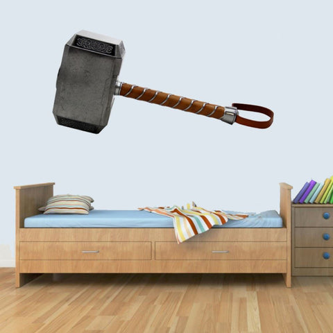 Marvel Thor Hammer Childrens Wall Art Decal Vinyl Stickers Picture for Boys/Girls Bedroom M