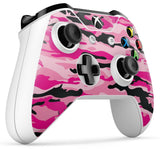 GNG 2 x PINK CAMO Compatible with Xbox One S Controller Skins Full Wrap Vinyl Sticker