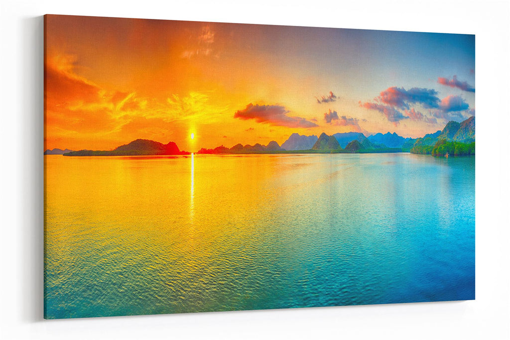 A3 30x45cm Canvas Wall Art of Beach Sunset for your Living Room Prints - Pictures