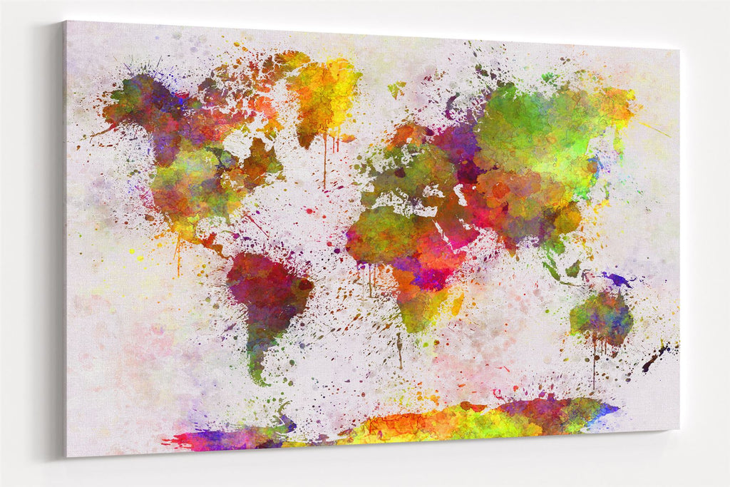 A1 60x75cm Canvas Wall Art of World Map for your Living Room Canvas Prints - Pictures
