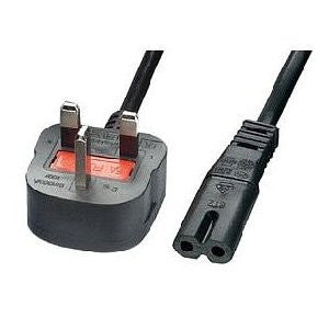 GNG Fig 8 3m  Mains Power Cable Plug Power Cable Lead Laptop Printer TV UK 3 Pin