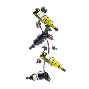 Grapevine Vertical 4 Bottle Wine Rack by Twine