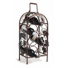 Load image into Gallery viewer, Grapevine 7 Bottle Wine Rack by Twine