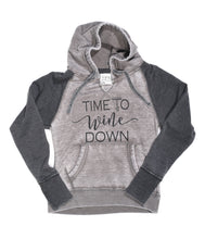 "Load image into Gallery viewer, Woman's""Time To Wine Down ""Sweatshirt"