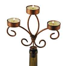 Load image into Gallery viewer, Bronze Wine Bottle Candelabra by Twine
