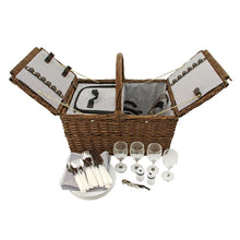 Load image into Gallery viewer, Cape Cod Wicker Picnic Basket by Twine®