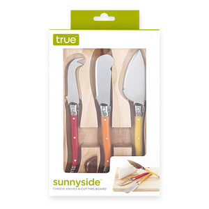 Sunnyside™: Cheese Knives & Cutting Board
