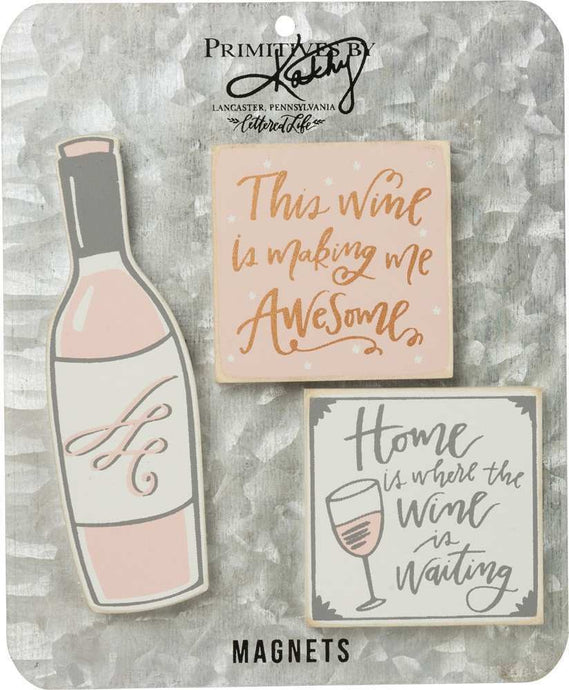 Magnet Set - Home Is Where The Wine Is Waiting