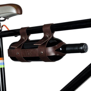 Faux Leather Bicycle Wine Carrier by Foster & Rye