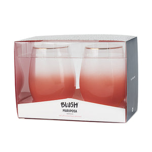 Mariposa Stemless Wine Glasses by Blush®
