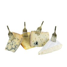 Load image into Gallery viewer, Chateau: Brushed Brass Finish Fork Cheese Markers