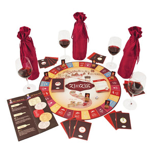 Zinzig Wine Tasting And Trivia Board Game by True