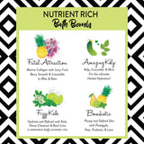 Natural Bath Bombs for Sensitive Skin - Organic Kelp Kale Probiotic Collagen Bath Bombs - Pure Scentum