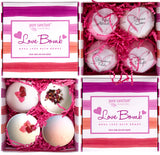 Bath Fizzers Set - Luxury Bath Fizzies - Lush Size 6oz Natural Bath Balls - US Made