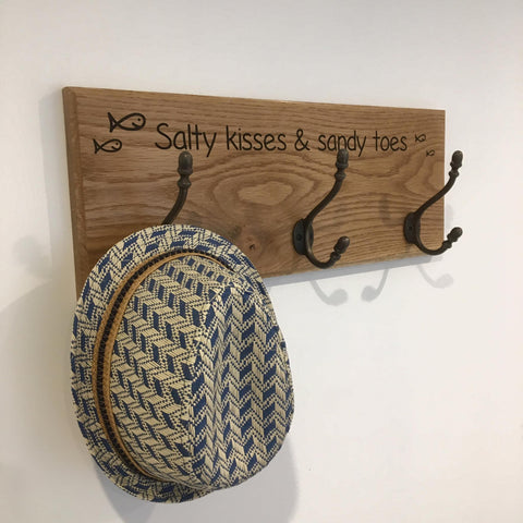 'Salty Kisses' Coat Hanger