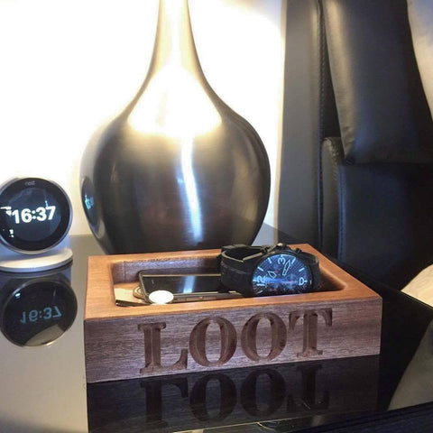 Solid Hardwood 'Loot' tray