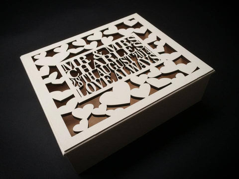 Wedding keepsake box - 36cm x 29cm - The Laser Artist
