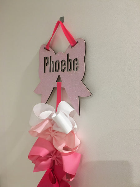 JoJo bow holders - personalised with name.