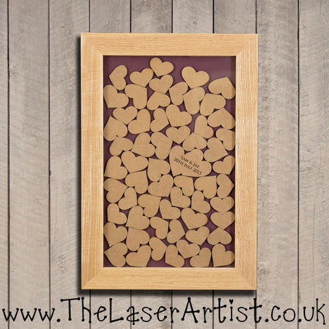 Wedding Dropbox guest book  - OAK FRAME - The Laser Artist - 1
