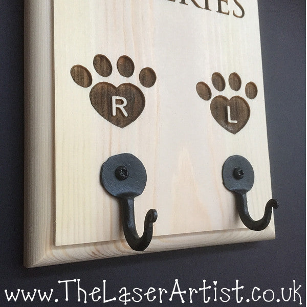 Personalised Dog Lead Tidy - The Laser Artist - 2