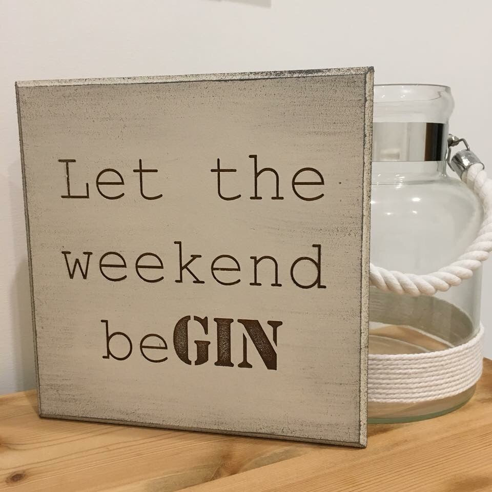 Gin lovers wall plaque