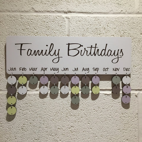 Classic Family Birthday Board with Tallies