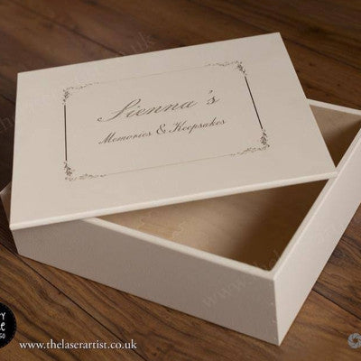Engraved keepsake box - 36cm x 29cm - The Laser Artist