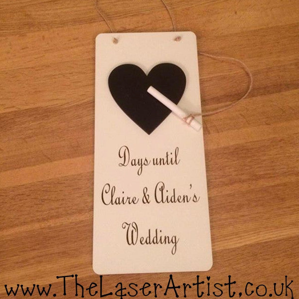 Wedding Count Down Chalk Board - The Laser Artist