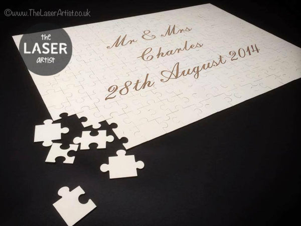 Personalised Wedding Puzzle Guest book - The Laser Artist - 2