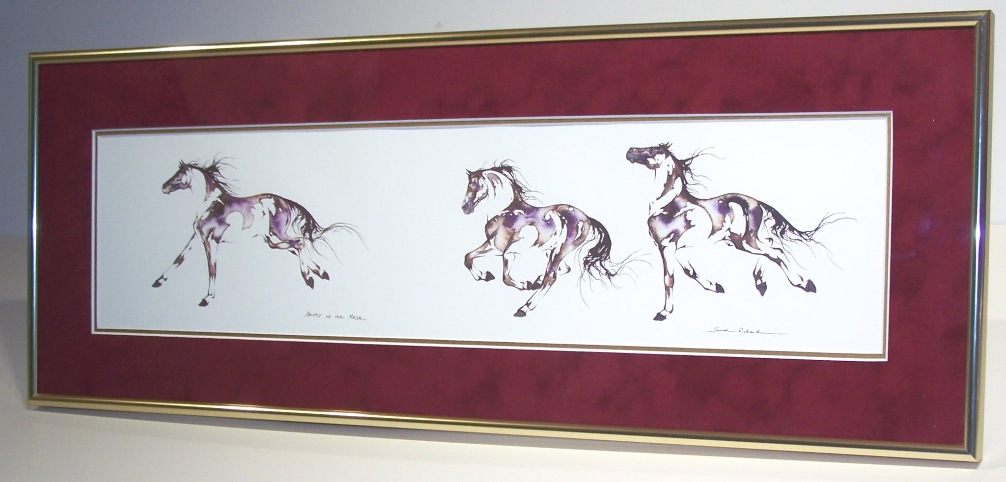 Drums on the Mesa (framed) - Sarah Lynn Richards~ custom equine art ...