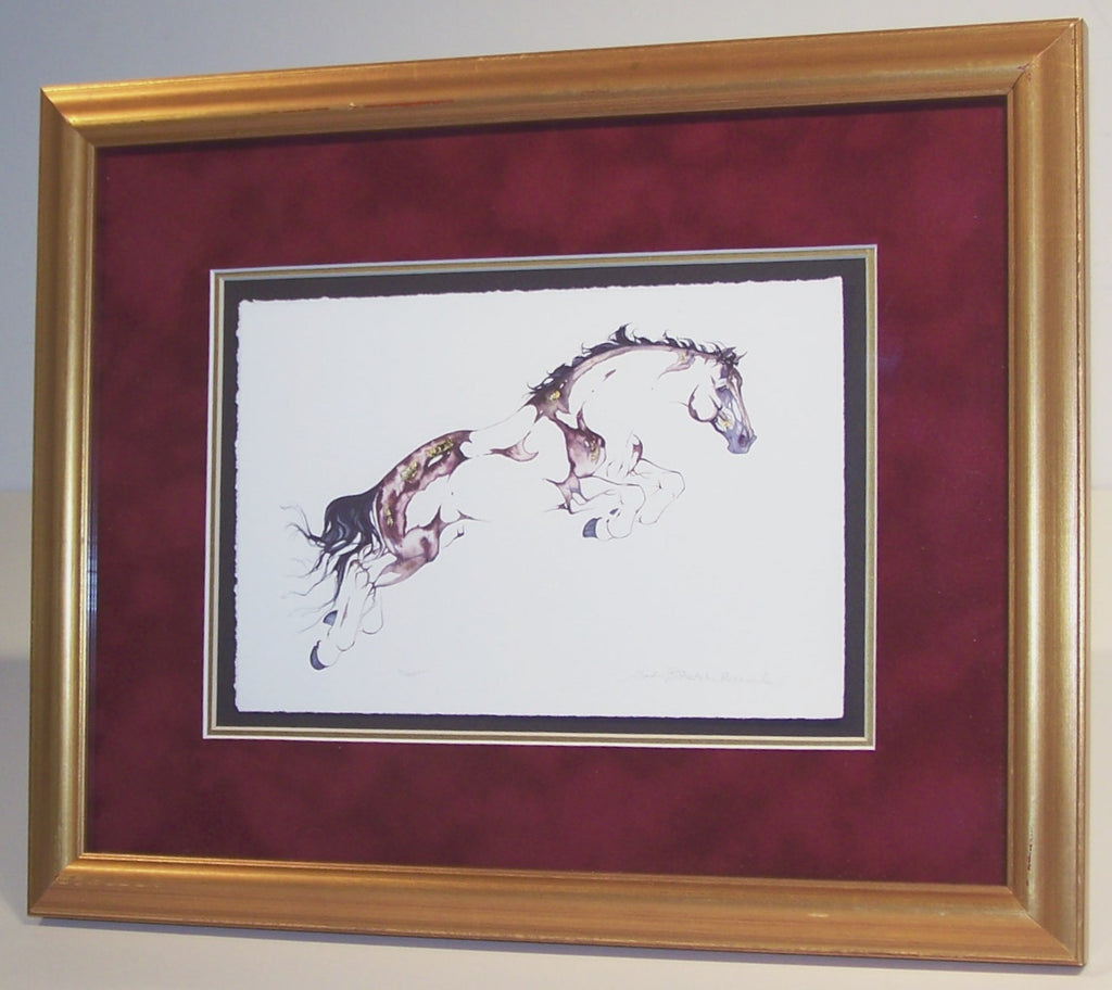 Flight with 23K gold leaf (framed)