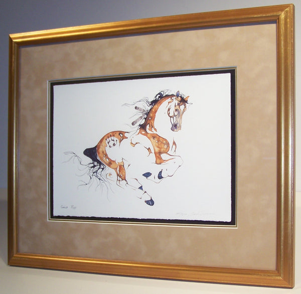 Gold Pony (framed)