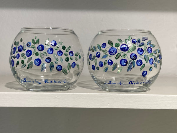 Blueberry glasses (pair)
