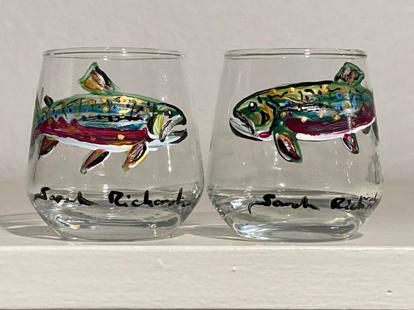 Fish shot glasses (pair)
