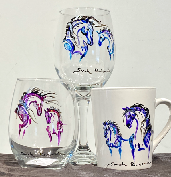 Mare and Foal inspired drink-ware