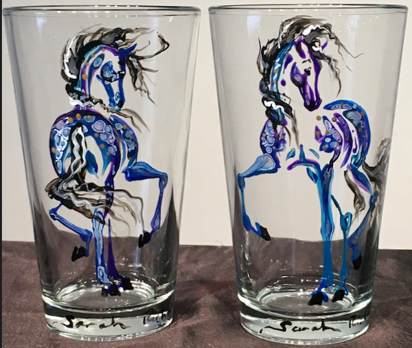 Beer Pint glass~ custom hand painted